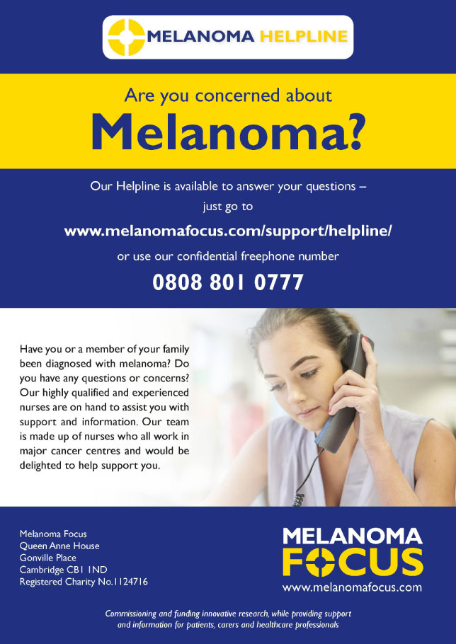 Melanoma Helpline from Melanoma Focus