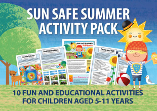 Download the sun safe summer activity pack